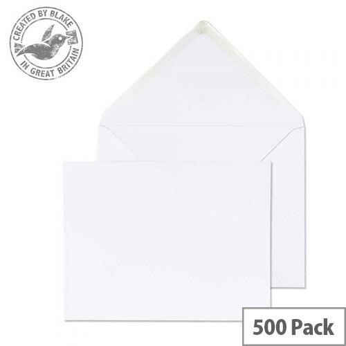 Purely Everyday Banker Invitation Envelopes Gummed White 100gsm 184x235mm Pack 500