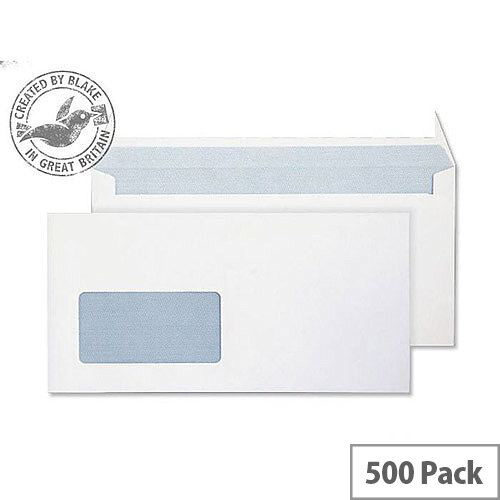 Purely Everyday Ultra White DL Wallet Window Envelopes 120gsm Pack of 500