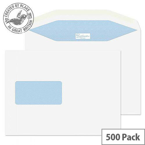 Blake Premium Mailing Wallet Window Gum White C5+ 162x235 90gsm (Pack of 500)