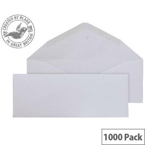 Purely Everyday Banker Invitation Envelopes Gummed White 90gsm 80x215mm Pack of 1000