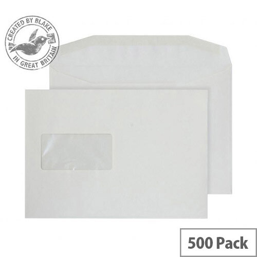 Purely Everyday Mailer Cream Gummed Window C5 Envelopes (Pack of 500)