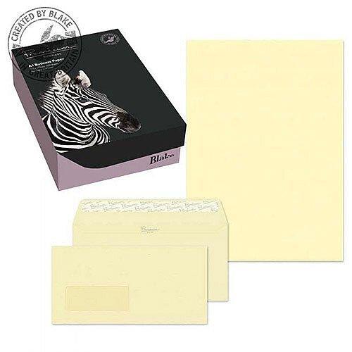Blake Soho Vellum Laid A4 Paper & Wallet P&S DL Envelopes 120gsm (Pack of 250/50)