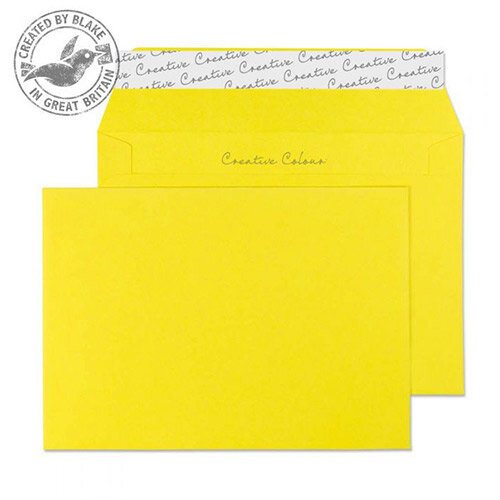 Creative Colour Banana Yellow Wallet C6 Envelopes (Pack of 500)