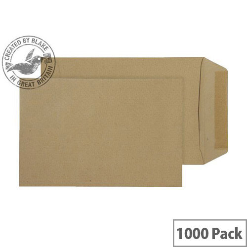 Purely Everyday Pocket Envelopes Gummed Manilla 80gsm 154x106mm Pack of 1000