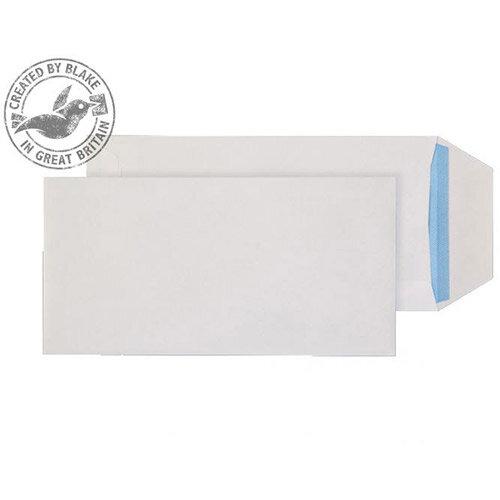 Purely Everyday White DL Pocket Gummed Envelopes 90gsm Pack of 1000