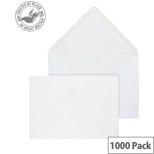 Purely Everyday Banker Invitation Envelopes Gummed White 100gsm 133x197mm Pack 1000