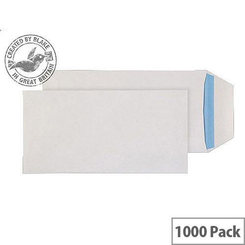 Purely Everyday DL White Self Seal Pocket Envelopes 90gsm Pack 1000
