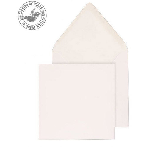 Purely Everyday Square Banker Invit Gummed White 90gsm 146x146 (Pack of 1000)