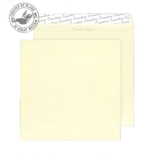Creative Colour Square Clotted Cream Wallet Envelopes (Pack of 250)