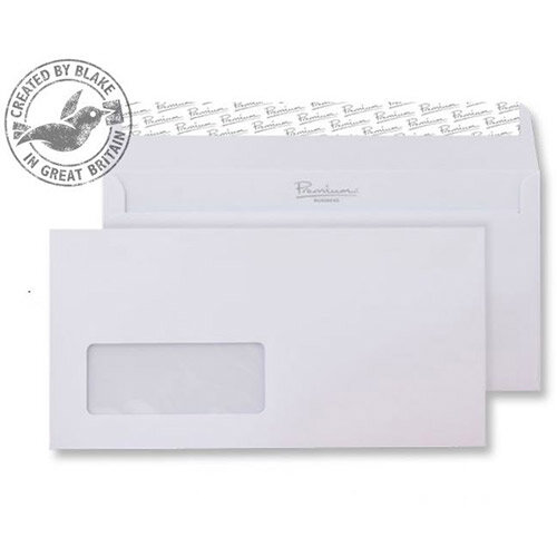 Blake DL Ice White Premium Business Wallet Window Wove 120gsm Pack of 500