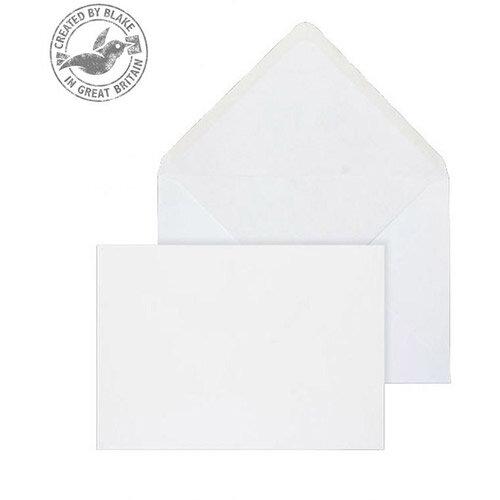 Purely Everyday Banker Invitation Envelopes Gummed White 90gsm 143x203mm Pack of 1000