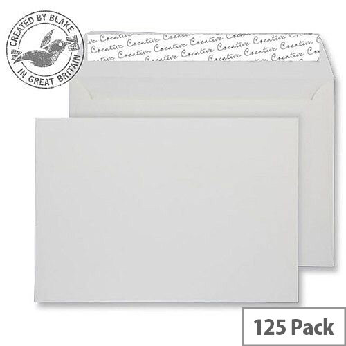 Creative Senses Pure 145gsm White Peel and Seal Wallet C5 162x229mm (Pack of 125)