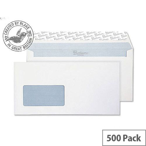 Blake Premium Office Ultra White Wallet Window Wove DL+ 120gsm Pack of 500