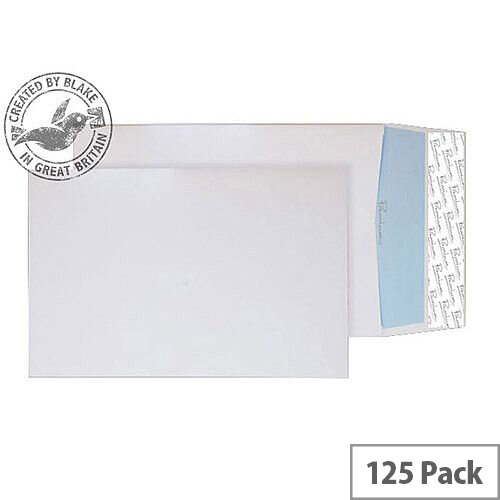 Blake Premium Office Gusset P& Ultra White Wove C5 25mm 140gsm (Pack of 125)