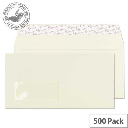 Blake Oyster DL Premium Business Wallet Window Wove 120gsm Pack of 500