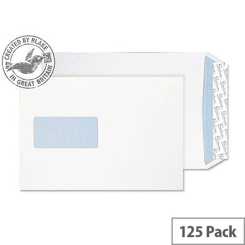 Blake Premium Off Gusset Window P& Ult White Wove C5 25mm 140gsm (Pack of 125)