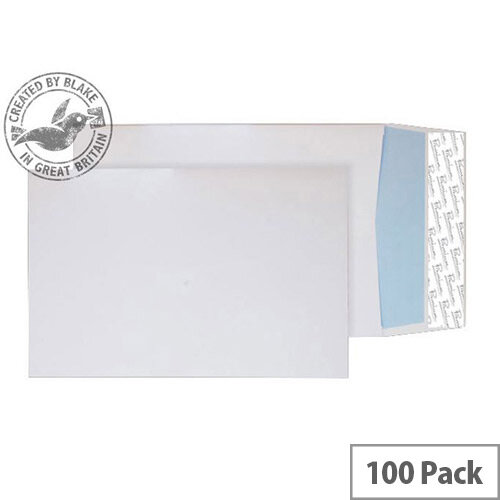 Blake Premium Off Gusset White Peel and Seal Wove C4 324x229x25 140gsm Pack of 100