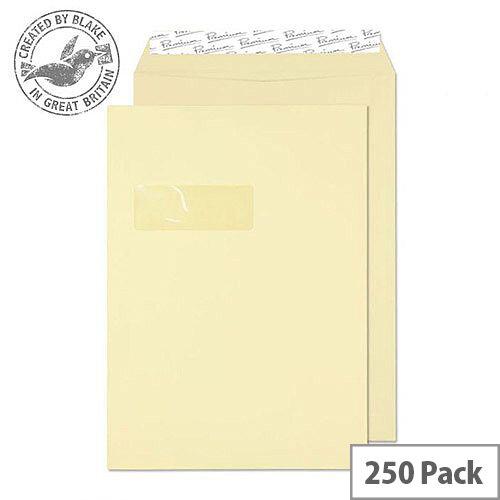 Blake Premium Business Pocket Window P& Vellum Cream Wove C4 120gsm (Pack of 250)