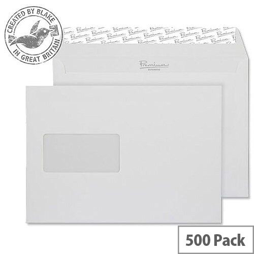 Blake Premium Business Wallet Window P& Brilliant White C5 120gsm (Pack of 500)