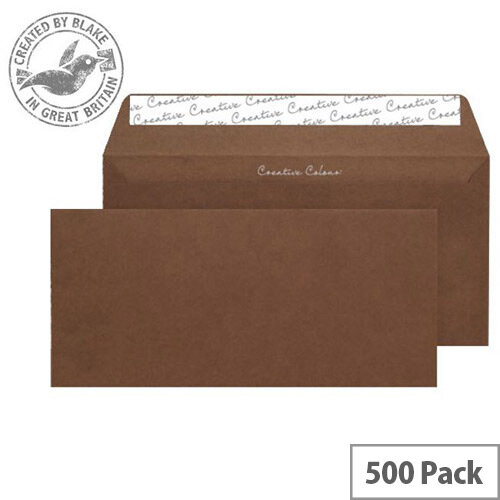 Creative Colour Brown Milk Chocolate DL+ Wallet Envelopes (Pack of 500)