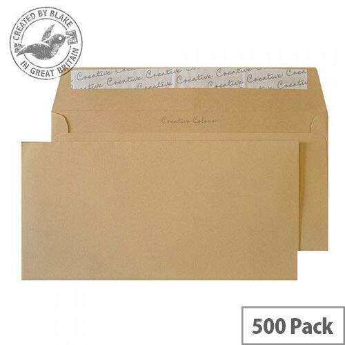 Creative Colour DL+ Biscuit Beige Wallet Envelopes 120gsm Pack of 500
