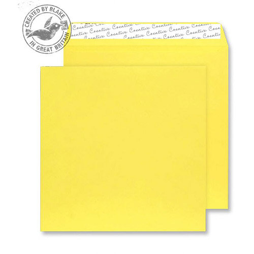 Creative Colour Banana Yellow Square Wallet Envelopes (Pack of 250)