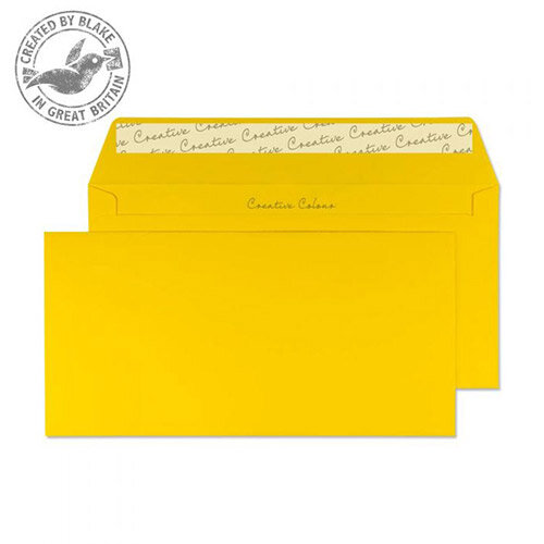 Creative Colour Egg Yellow DL+ Wallet Envelopes (Pack of 500)