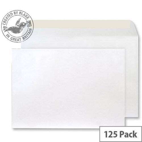 Creative Shine Pearlescent Frosted White Wallet C4 Envelopes (Pack of 125)
