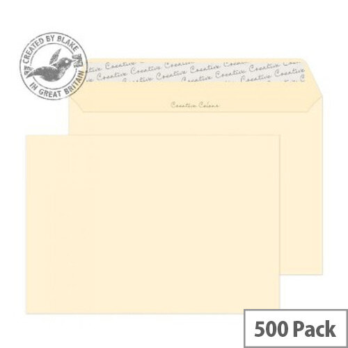 Creative Colour Clotted Cream Wallet C5 Envelopes (Pack of 500)