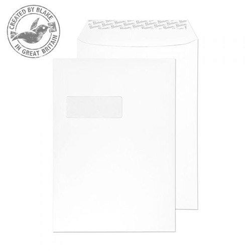 Blake Premium Bus Pckt Window P& Diamond White Smooth C4 120gsm (Pack of 250)