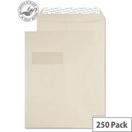 Creative Colour Vanilla Ice Cream Pocket Window C4 Envelopes (Pack of 250)