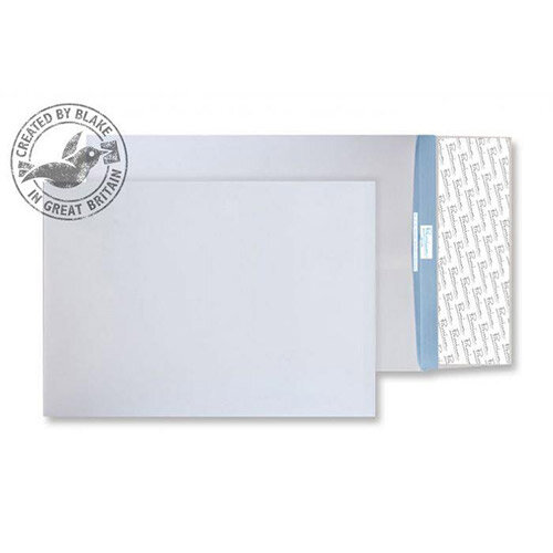 Blake Premium Secure White C4 Gusset Peel and Seal 125gsm Envelopes Pack of 100