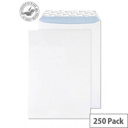 Blake Premium Office Pocket Envelopes Peel and Seal White Wove B4 352x250 120gsm Pack of 250