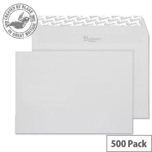 Blake Premium Business Wallet P& Diamond White Smooth C5 120gsm (Pack of 500)