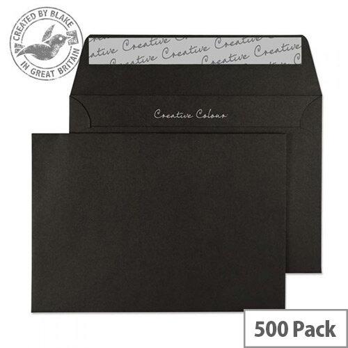 Creative Colour Jet Black C6 Wallet Envelopes (Pack of 500)