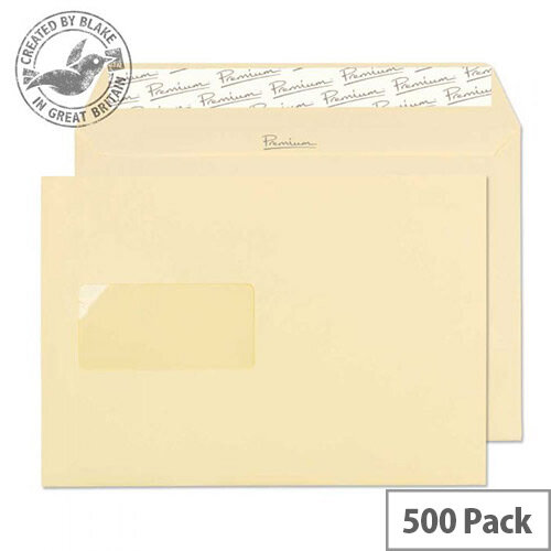 Blake Premium Business Vellum Wove Window C5 Envelopes (Pack of 500)