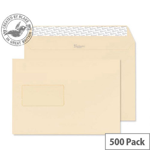 Blake Premium Business Cream Wove Window C5 Envelopes (Pack of 500)