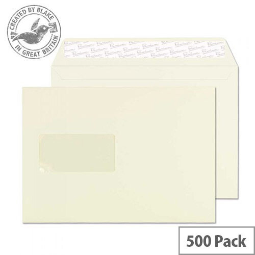 Blake Premium Business Oyster Wove Window C5 Envelopes (Pack of 500)