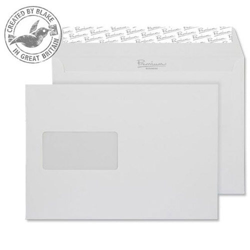 Blake Premium Bus Wallet Window P& Diamond White Smooth C5 120gsm (Pack of 500)