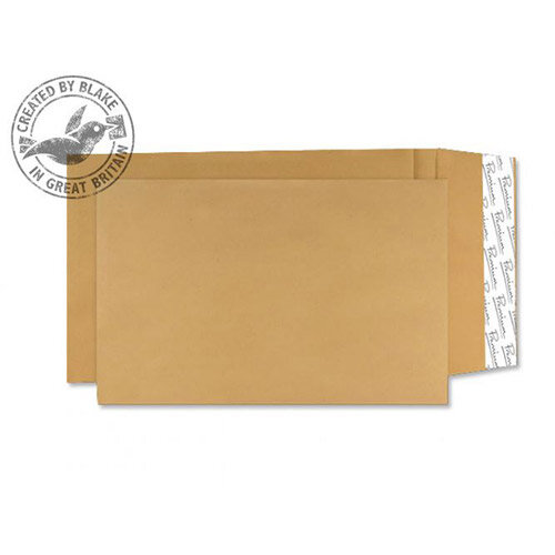 Blake Premium Cream Manilla Avant Garde Gusset Envelopes Peel and Seal 406x305x30 140gsm Pack of 100