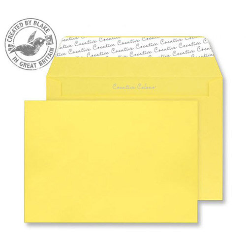 Creative Colour Banana Yellow Wallet C4 Envelopes (Pack of 250)
