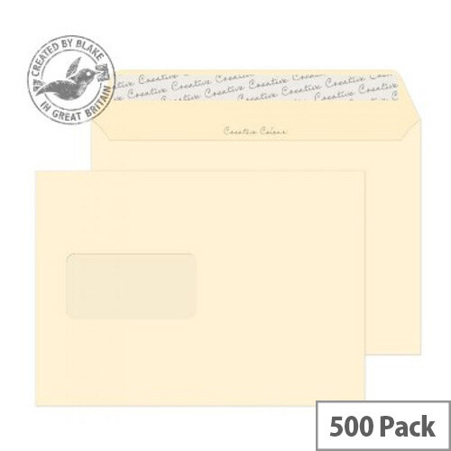 Creative Colour Clotted Cream Window C5 Envelopes (Pack of 500)