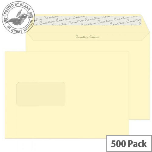 Creative Colour Vanilla Ice Cream Window Wallet C5 Envelopes (Pack of 500)