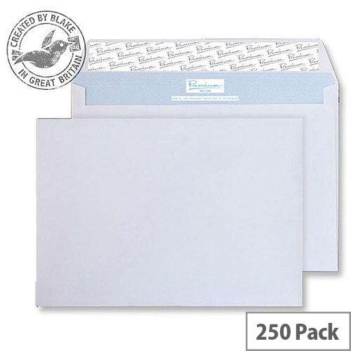 Blake Premium Secure Wallet P& White C5 162x229mm 125gsm (Pack of 250)