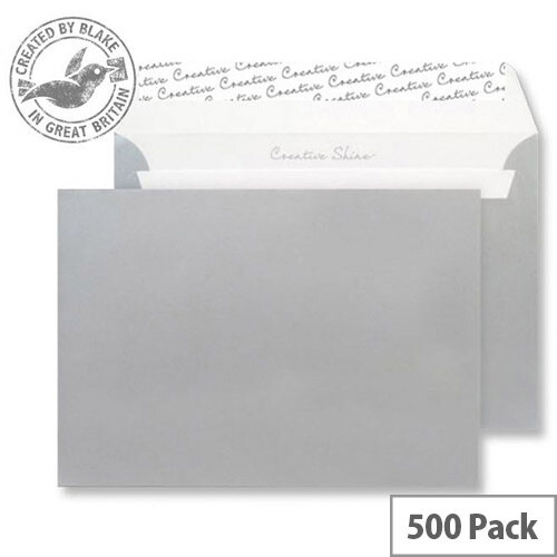 Creative Shine Metallic Silver C6 Wallet Envelopes (Pack of 500)