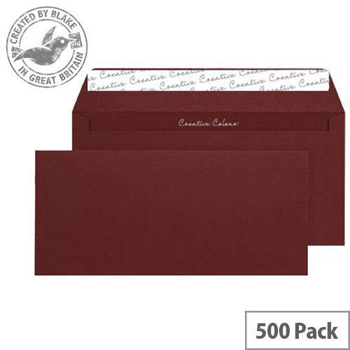 Creative Colour Bordeaux Wallet DL+ Envelopes (Pack of 500)