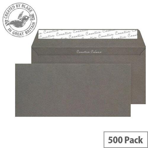 Creative Colour Graphite Grey DL+ Wallet Envelopes (Pack of 500)