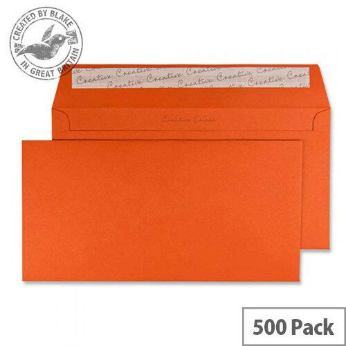 Creative Colour Marmalade Orange DL+ Wallet Envelopes (Pack of 500)
