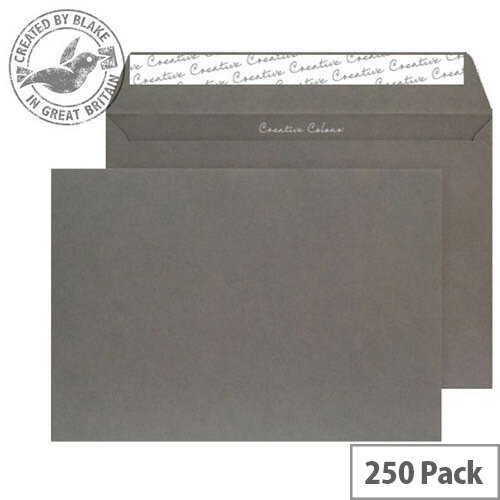 Creative Colour Graphite Grey Wallet C4 Envelopes (Pack of 250)