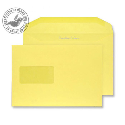 Creative Colour Banana Yellow Window C5+ Envelopes (Pack of 500)
